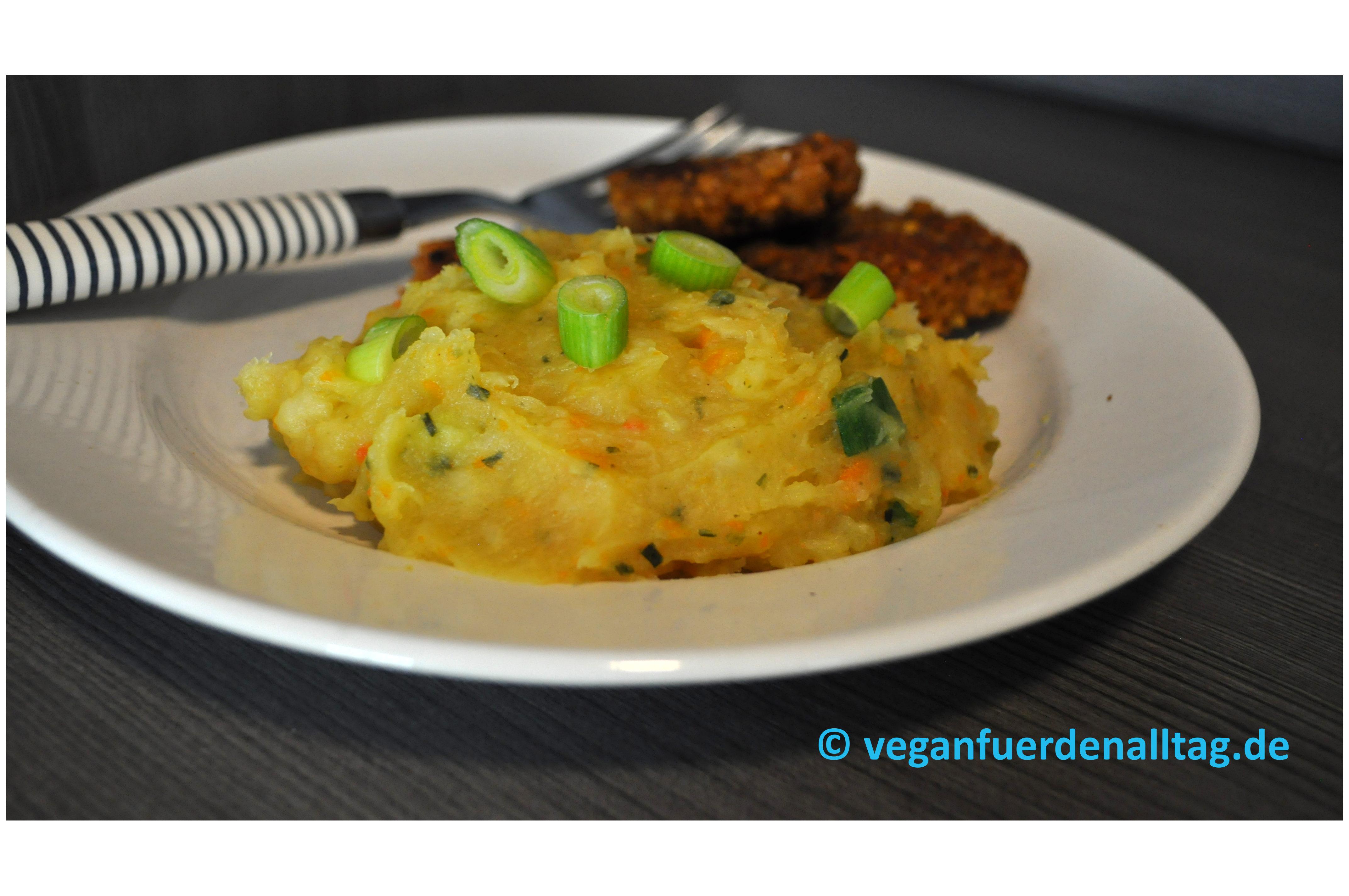 Pastinaken-Kartoffel-Püree vegan Thermomix