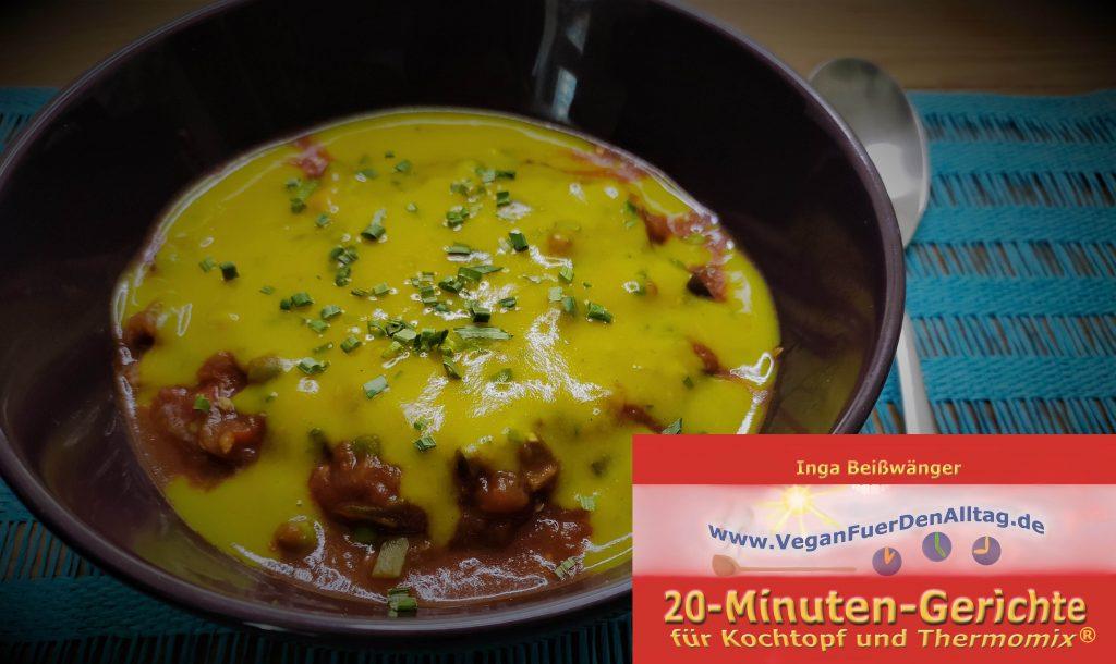 Rezept vegane Gratinsoße Soße Auflauf Vegan für den Alltag